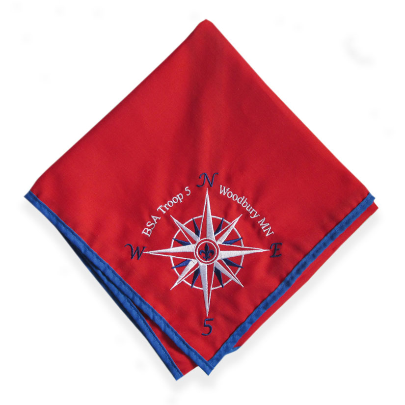 Direct Embroidered Neckerchief